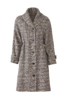 Grey Marled Coat by Halston Heritage