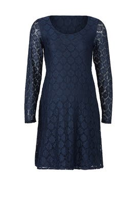 Navy Dot Lace Maternity Dress by Ingrid & Isabel