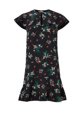 Black Floral Bouquet Dress by RED Valentino