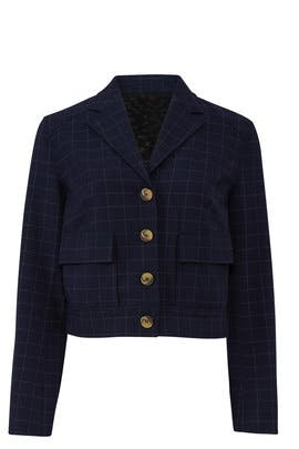 Checked Cropped Jacket by RACHEL ROY COLLECTION