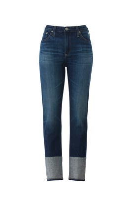 Isabelle High Rise Straight Crop Jeans by AG