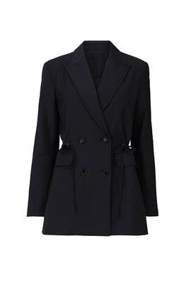 Black Side Tie Blazer by Co