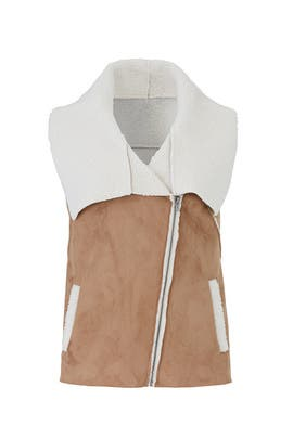 Faux Shearling Fiona Vest by cupcakes and cashmere