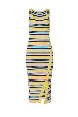 Pink Snap Rib Dress by 525 America