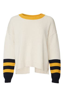 Varsity Split Back Sweater by 525 America