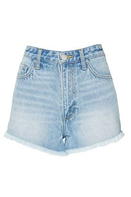 Blue Cut Off Shorts by LEE