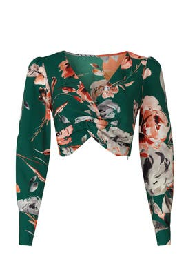 Floral Twist Front Top by Marissa Webb Collective