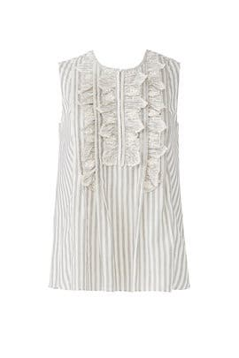Ruffled Eyelet Stripe Top by Rebecca Taylor