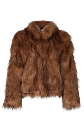 Brown Faux Fur Delish Jacket by Unreal Fur