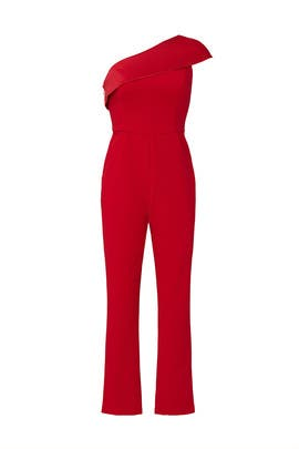 One Shoulder Jumpsuit by Adrianna Papell