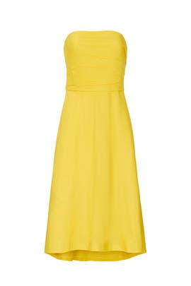 Lemon Strapless Dress by Great Jones