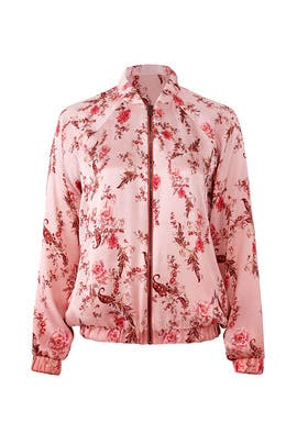 Clara Floral Bomber Jacket by Haute Hippie