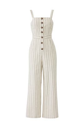 Striped Button Down Jumpsuit by J.O.A.