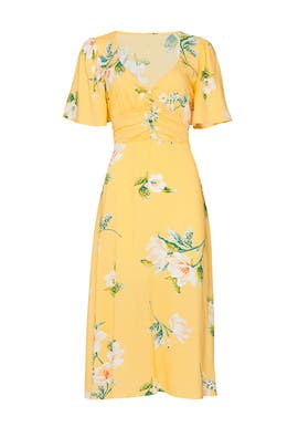 Yellow Floral Corset Dress by Louna