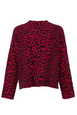 Textured Cheetah Sweater by Milly