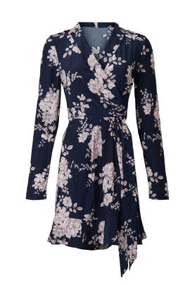 Navy Floral Wrap Dress by Marissa Webb Collective