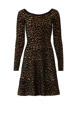 Leopard Roawn Dress by Ronny Kobo
