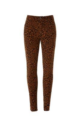Leopard Affiar Corduroy Pants by Sanctuary