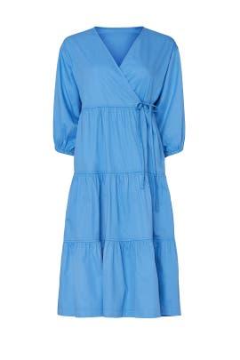 Blue Tiered Wrap Dress by Sweet Baby Jamie
