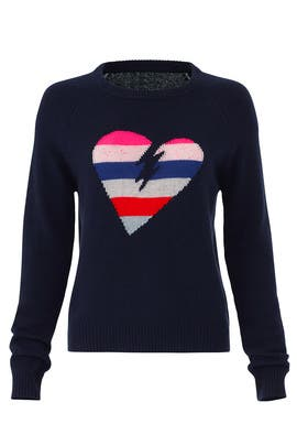 Baly Bis Heart Sweater by Zadig & Voltaire