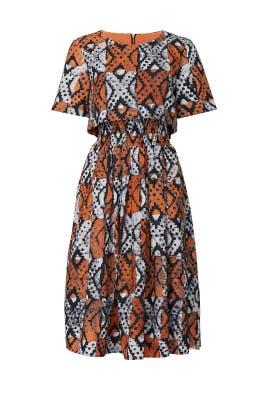 Orange Lottie Dress by Autumn Adeigbo