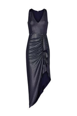 Grey Draped Dress by Aidan AIDAN MATTOX