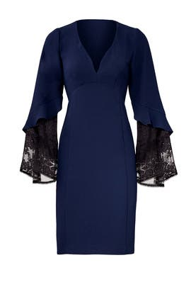 Navy Betty Lace Dress by Nanette Lepore