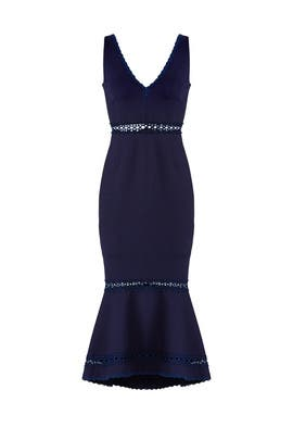 Plunging Navy Dress by Nicholas