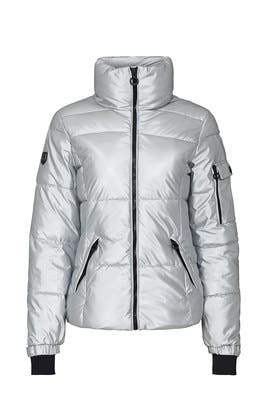 Silver Lexi Puffer Coat by NOIZE
