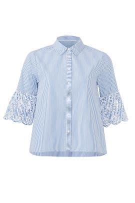 Eyelet Sleeve Shirt by Scotch & Soda