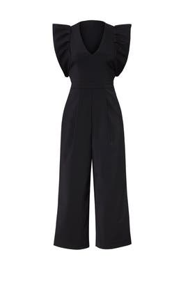 Black Faille Jumpsuit by Tibi
