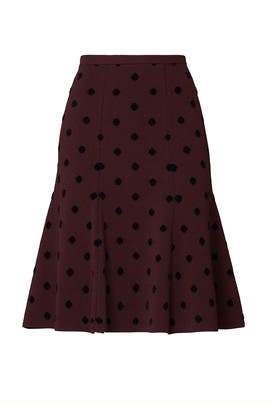 Polka Dot Flare Skirt by Thakoon Collective
