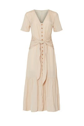 Nude Tie Waist Dress by Love, Whit by Whitney Port