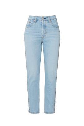Light Wash 501 Crop Jeans by Levi's
