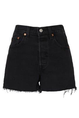 High Rise Denim Ribcage Shorts by Levi's
