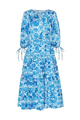 Blue Floral Dress by MDS Stripes