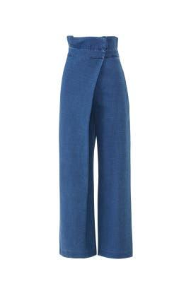 Nikko Wrap Flare Jeans by Mara Hoffman