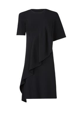 Black Flounce Dress by Opening Ceremony