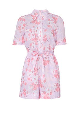 Pink Floral Romper by byTiMo