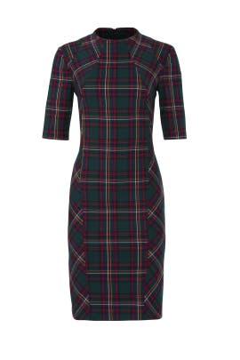 Plaid Aperitif Dress by Trina Turk