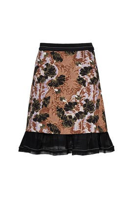 Floral Printed Skirt by Carven
