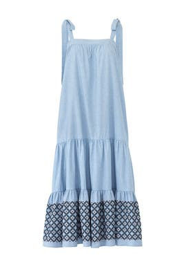 Blue Lucy Midi Dress by Rebecca Minkoff