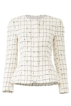 Plaid Tweed Zip Jacket by Rebecca Taylor
