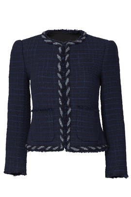 Dark Violet Tweed Jacket by Rebecca Taylor
