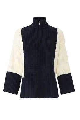 Zip Front Colorblock Pullover by Victor Alfaro