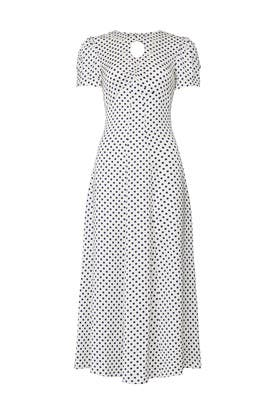 Polka Dot Scallop Paneled Dress by Alexa Chung