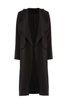 Black Trench Coat by Badgley Mischka