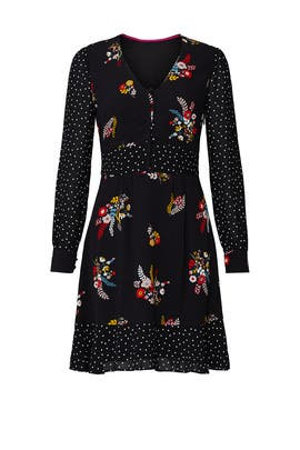 Black Floral Ivy Dress by Boden