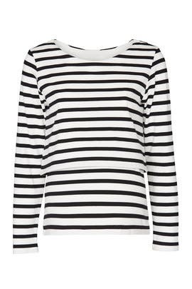 Striped Nursing Maternity Top by Isabella Oliver
