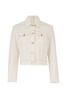 Cream Slim Denim Jacket by J BRAND
